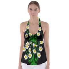 Bouquet Geese Flower Plant Blossom Babydoll Tankini Top
