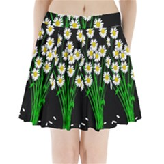 Bouquet Geese Flower Plant Blossom Pleated Mini Skirt