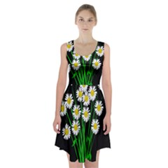 Bouquet Geese Flower Plant Blossom Racerback Midi Dress