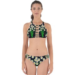 Bouquet Geese Flower Plant Blossom Perfectly Cut Out Bikini Set