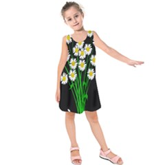 Bouquet Geese Flower Plant Blossom Kids  Sleeveless Dress