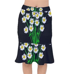 Bouquet Geese Flower Plant Blossom Mermaid Skirt by Nexatart