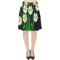 Bouquet Geese Flower Plant Blossom Velvet High Waist Skirt by Nexatart