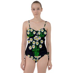Bouquet Geese Flower Plant Blossom Sweetheart Tankini Set