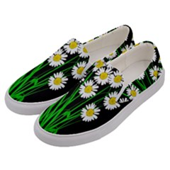Bouquet Geese Flower Plant Blossom Men s Canvas Slip Ons by Nexatart