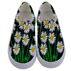 Bouquet Geese Flower Plant Blossom Kids  Canvas Slip Ons