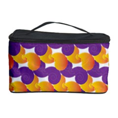 Pattern Background Purple Yellow Cosmetic Storage Case