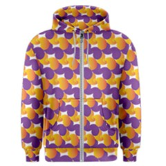 Pattern Background Purple Yellow Men s Zipper Hoodie