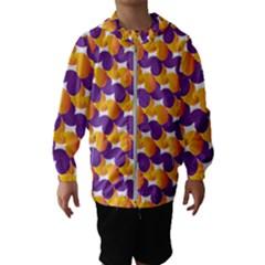 Pattern Background Purple Yellow Hooded Wind Breaker (kids)