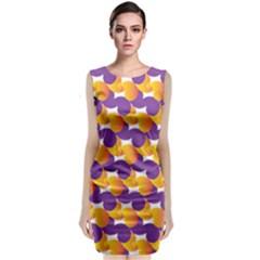 Pattern Background Purple Yellow Classic Sleeveless Midi Dress