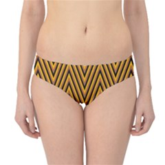 Chevron Brown Retro Vintage Hipster Bikini Bottoms