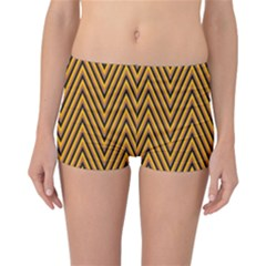Chevron Brown Retro Vintage Reversible Boyleg Bikini Bottoms