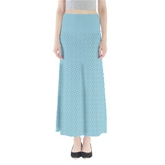 Blue Pattern Background Texture Full Length Maxi Skirt