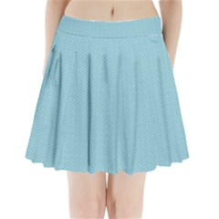Blue Pattern Background Texture Pleated Mini Skirt