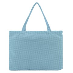 Blue Pattern Background Texture Zipper Medium Tote Bag