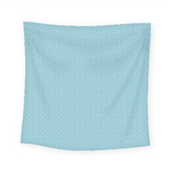 Blue Pattern Background Texture Square Tapestry (small)