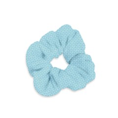 Blue Pattern Background Texture Velvet Scrunchie