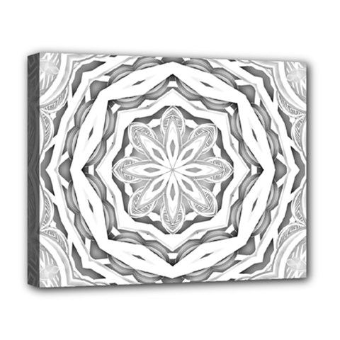 Mandala Pattern Floral Deluxe Canvas 20  X 16