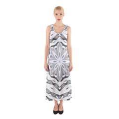 Mandala Pattern Floral Sleeveless Maxi Dress