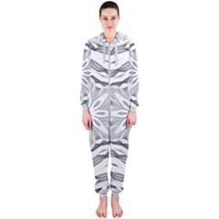 Mandala Pattern Floral Hooded Jumpsuit (ladies)