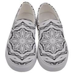 Mandala Pattern Floral Men s Canvas Slip Ons