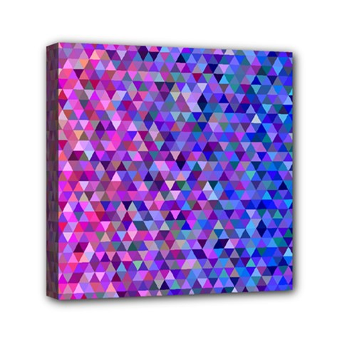 Triangle Tile Mosaic Pattern Mini Canvas 6  X 6