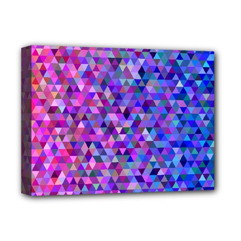 Triangle Tile Mosaic Pattern Deluxe Canvas 16  X 12   by Nexatart