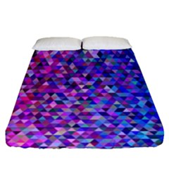 Triangle Tile Mosaic Pattern Fitted Sheet (queen Size)