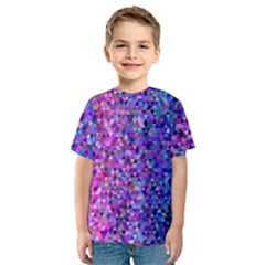 Triangle Tile Mosaic Pattern Kids  Sport Mesh Tee
