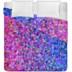 Triangle Tile Mosaic Pattern Duvet Cover Double Side (king Size)