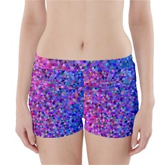 Triangle Tile Mosaic Pattern Boyleg Bikini Wrap Bottoms