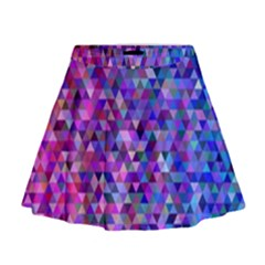 Triangle Tile Mosaic Pattern Mini Flare Skirt
