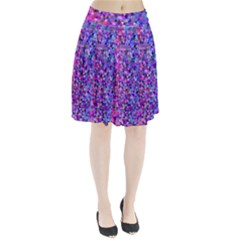 Triangle Tile Mosaic Pattern Pleated Skirt