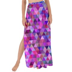 Triangle Tile Mosaic Pattern Maxi Chiffon Tie Up Sarong