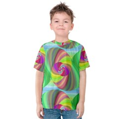 Seamless Pattern Twirl Spiral Kids  Cotton Tee