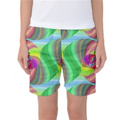 Seamless Pattern Twirl Spiral Women s Basketball Shorts