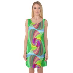 Seamless Pattern Twirl Spiral Sleeveless Satin Nightdress