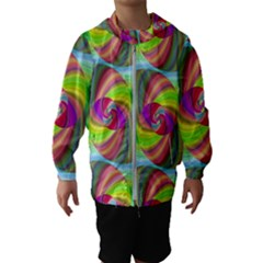 Seamless Pattern Twirl Spiral Hooded Wind Breaker (kids)