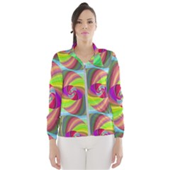 Seamless Pattern Twirl Spiral Wind Breaker (women)