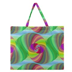 Seamless Pattern Twirl Spiral Zipper Large Tote Bag by Nexatart