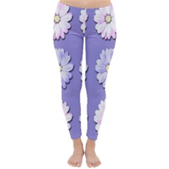 Daisy Flowers Wild Flowers Bloom Classic Winter Leggings