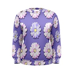 Daisy Flowers Wild Flowers Bloom Women s Sweatshirt
