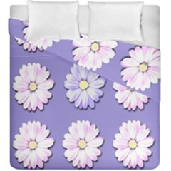 Daisy Flowers Wild Flowers Bloom Duvet Cover Double Side (king Size)