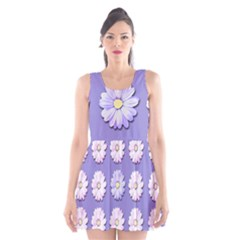Daisy Flowers Wild Flowers Bloom Scoop Neck Skater Dress