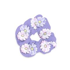 Daisy Flowers Wild Flowers Bloom Velvet Scrunchie