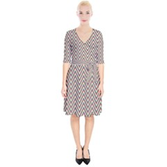 Chevron Retro Pattern Vintage Wrap Up Cocktail Dress
