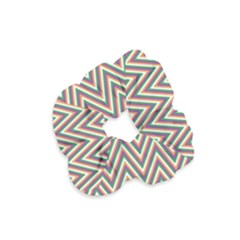 Chevron Retro Pattern Vintage Velvet Scrunchie