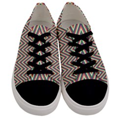 Chevron Retro Pattern Vintage Men s Low Top Canvas Sneakers
