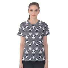 Seamless Pattern Repeat Line Women s Cotton Tee