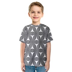 Seamless Pattern Repeat Line Kids  Sport Mesh Tee